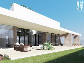 CASA FUNDADORES | Playa del Carmen Q. Roo: Jardines de estilo  por EMERGENTE | Arquitectura, Minimalista