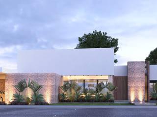 CASA FUNDADORES | Playa del Carmen Q. Roo: Casas de estilo  por EMERGENTE | Arquitectura, Minimalista