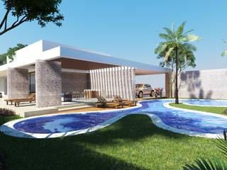 CASA FUNDADORES | Playa del Carmen Q. Roo: Albercas de estilo  por EMERGENTE | Arquitectura, Minimalista