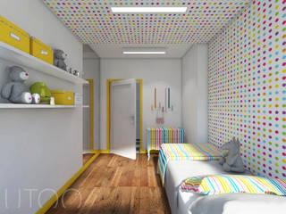 POKOJE DZIECIĘCE- DOTS & STRIPES Nowoczesny pokój dziecięcy od UTOO-Pracownia Architektury Wnętrz i Krajobrazu Nowoczesny