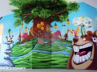 Dormitorios infantiles de estilo moderno de Wandgestaltung Graffiti Airbrush von Appolloart Moderno
