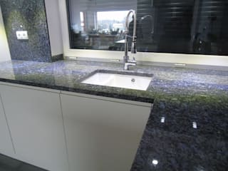 Merkam - Łódź ul. Św. Jerzego 9 KitchenBench tops Granite Blue