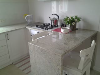 Merkam - Łódź ul. Św. Jerzego 9 KitchenBench tops Granite Grey
