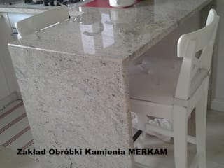 Merkam - Łódź ul. Św. Jerzego 9 KitchenBench tops Stone Grey