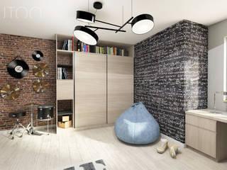 Pokój nastolatka Nowoczesny pokój dziecięcy od UTOO-Pracownia Architektury Wnętrz i Krajobrazu Nowoczesny