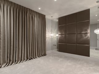 Decorative upholstered wall pannels 모던스타일 침실 by Mille Couleurs London 모던