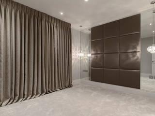 Decorative upholstered wall pannels Mille Couleurs London Cuartos de estilo moderno Sintético Metálico/Plateado