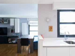LA CUISINE DANS LE BAIN SK CONCEPT Modern dining room Blue
