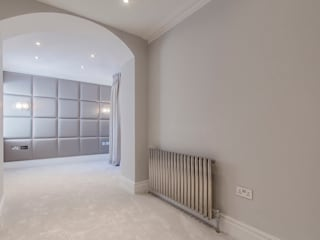 Decorative upholstered wall pannels Mille Couleurs London Modern Bedroom Synthetic Grey