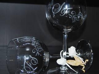 SERIGRAFIE SU VETRO MILENA ALIPPI DECORAZIONI Sala da pranzoStoviglie & Bicchieri