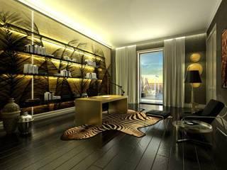 DZINE & CO, Arquitectura e Design de Interiores ห้องทำงาน/อ่านหนังสือ