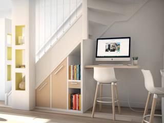 Aménagement d'un escalier: Couloir et hall d'entrée de style  par Concept d'intérieur