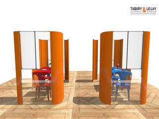 le plan à 2 Frédéric TABARY Balcon, Veranda & Terrasse modernes Plastique Orange