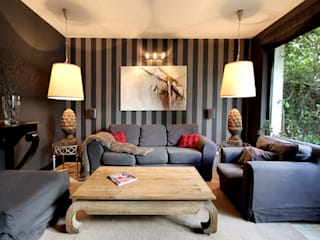 2kul INTERIOR DESIGN Eclectic style living room Grey