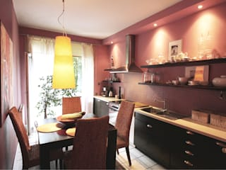 2kul INTERIOR DESIGN Eclectic style kitchen Wood Pink