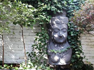 DOM 3 Eklektyczny ogród od 2kul INTERIOR DESIGN Eklektyczny Cegły