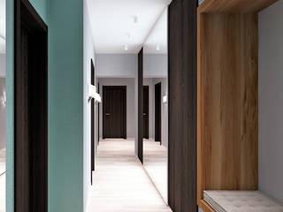 Corredores, halls e escadas industriais por QUADRUM STUDIO Industrial