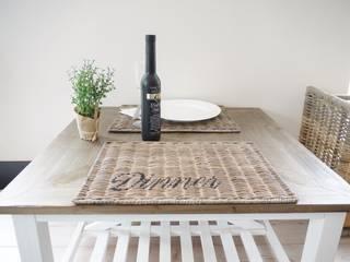 Originelle Platzmatte Untersetzer Dinner aus Rattan von Homestyle & Garden Rustikal