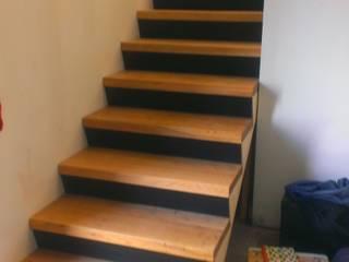 Escalier en chêne par Art de l'Espace Moderne