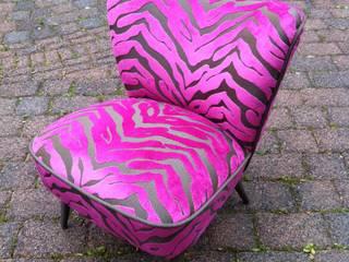 Cocktail Sessel Maputo Zebra Pink:   von Design Quintett