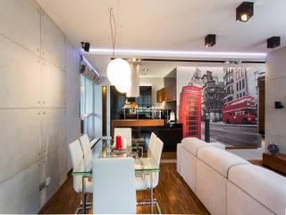 MIESZKANIE NOWY DWÓR MAZOWIECKI Nowoczesny salon od MYSprojekt projektowanie wnętrz Nowoczesny