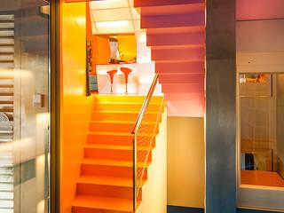 Casa Levene Pasillos, vestíbulos y escaleras de estilo industrial de Luzestudio - Fotografía de arquitectura e interiores Industrial