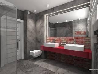 WIZUALIZACJE MYSprojekt projektowanie wnętrz Nowoczesna łazienka od MYSprojekt projektowanie wnętrz Nowoczesny