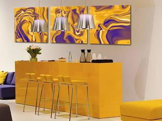 Bar moderne jaune par Emilie Adams