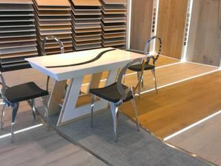 Table en Krion rétroéclairée par Art de l'Espace Moderne
