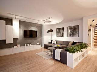 IDAFO projektowanie wnętrz i wykończenie Modern Living Room