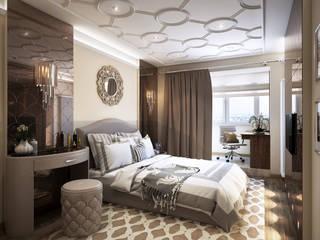 Ольга Райская Eclectic style bedroom Beige