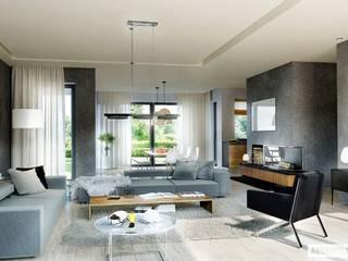 Salas de estilo moderno por Pracownia Projektowa ARCHIPELAG