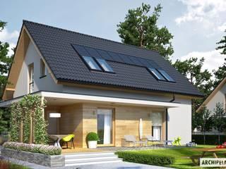 PROJEKT DOMU LILA ECONOMIC : styl , w kategorii Domy zaprojektowany przez Pracownia Projektowa ARCHIPELAG,Nowoczesny