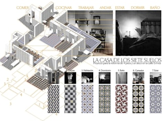 La casa de los 7 suelos: Salones de estilo  de SERRANO + BAQUERO