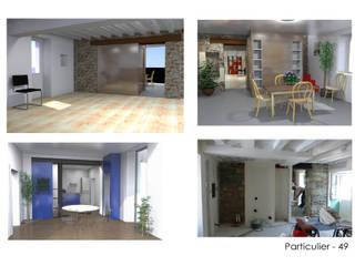 Aménagements intérieu Maisons modernes par ATELIER KA-HUTTE Moderne