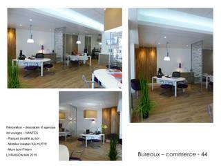 Aménagement de commerces - bureaux Salon moderne par ATELIER KA-HUTTE Moderne