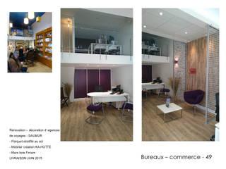 Aménagement de commerces - bureaux Espaces commerciaux modernes par ATELIER KA-HUTTE Moderne