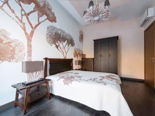 Дизайн проект интерьера загородного дома в КП Покровский: Спальни в . Автор – r-interiors