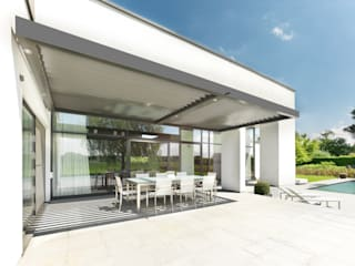 Elmstree Grove | UmbrisbyIQ | Modern style balcony, porch & terrace by IQ Outdoor Living Modern