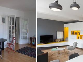 Appartement ludique 70m2 par Créateurs d'interieur - Nantes