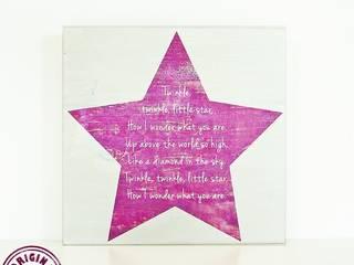"Schild ""Twinkle, twinkle little star"", ca. 20x20 cm:   von Elfenwinkel"