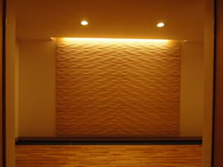 Corredores, halls e escadas modernos por 合同会社 栗原弘建築設計事務所 Moderno