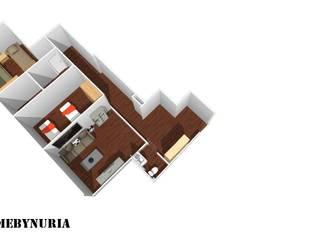 Scandinavian style corridor, hallway& stairs by construcciones y reformas Viguera Scandinavian