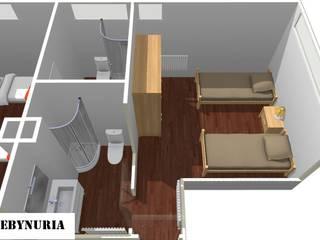 Scandinavian style bedroom by construcciones y reformas Viguera Scandinavian