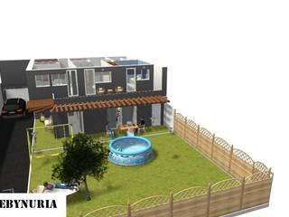 Eclectic style garden by construcciones y reformas Viguera Eclectic