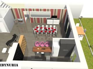 Eclectic style dining room by construcciones y reformas Viguera Eclectic