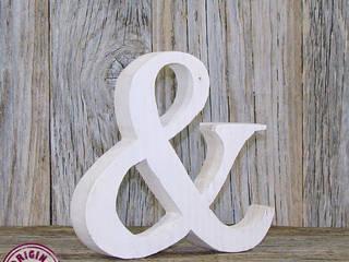 Schönes &-Zeichen in weiß aus verwittertem Holz:   von Elfenwinkel