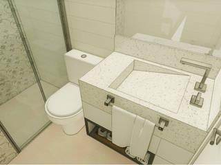 Apartamento São Caetano do Sul Banheiros modernos por Studio Meraki Arquitetura e Design Moderno