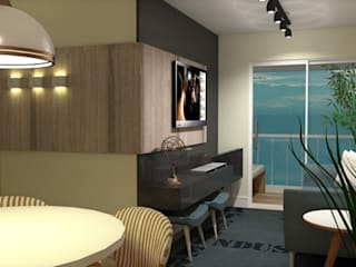 Apartamento Santo André Salas de estar modernas por Studio Meraki Arquitetura e Design Moderno