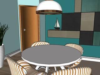Apartamento Santo André Salas de jantar modernas por Studio Meraki Arquitetura e Design Moderno